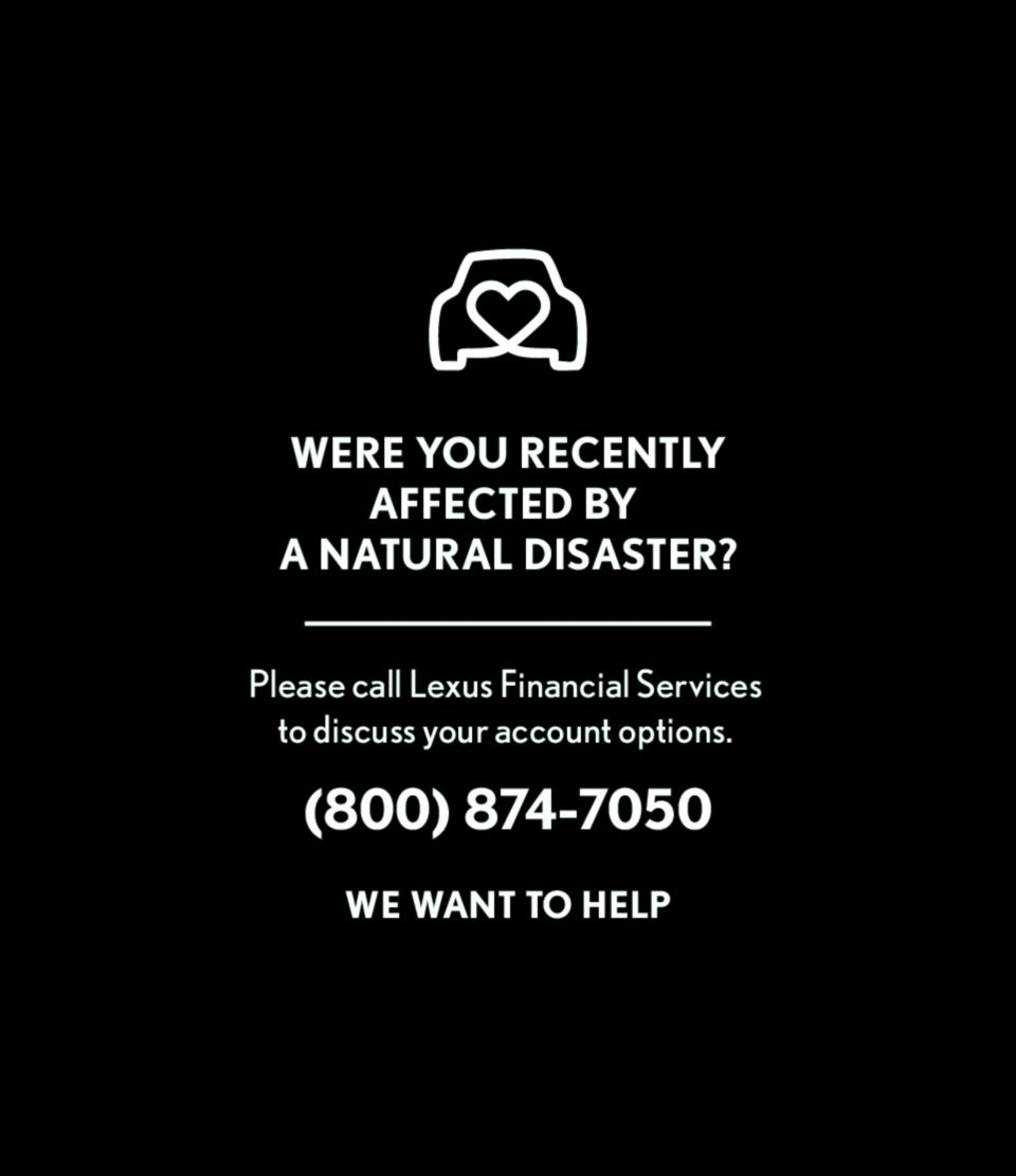 Natural Disasters Relief Generic Lexus Aug 2020
